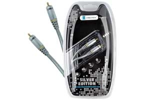 Kabel 1RCA-1RCA 0.5m coaxial Cabletech Silver Edition